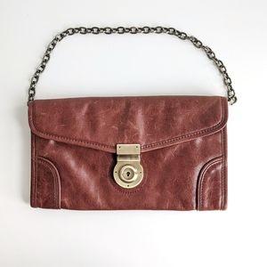 Via Spiga Vintage leather shoulder purse